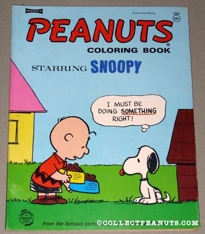 Peanuts Saalfield & Artcraft Coloring Books | CollectPeanuts.com