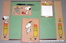 Peanuts & Snoopy Desk Sets & Pieces