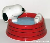 Snoopy laying in dog dish Candy Dish