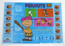Denny's Place mat - Charlie Brown