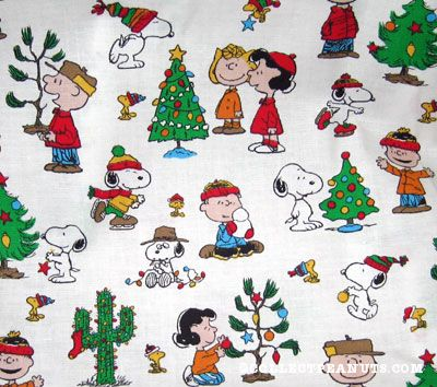 peanuts decorating trees
