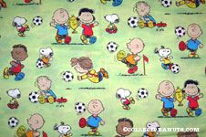 Peanuts Gang playing soccer