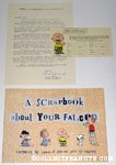 Peanuts 'A Scrapbook about your Falcon' with supporting materials