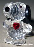 Snoopy standing with red heart Crystal Figurine