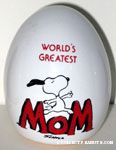 Snoopy leaping 'World's Greatest Mom' Egg Figurine