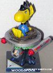 Woodstock dressed as Mr. Spock and sitting on Enterprise 'Woodspock' Figurine