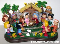 Peanuts Gang nativity christmas scene Figurine