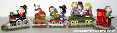 Peanuts Gang Thanksgiving Train Figurine