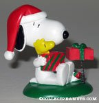 Snoopy & Woodstock with Christmas Gifts spring figurine