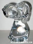 Snoopy sitting Crystal Figurine