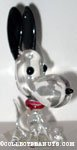 Snoopy with ears in air Glass Figurine