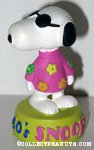 Snoopy wearing flowers '1960's' Figurine
