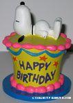 Snoopy on Birthday Cake