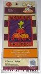 Woodstock on fall pumpkins 'Gather Friends' Flag