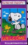 Snoopy & Woodstock 'Swinging Snoopy' Flag