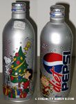 Peanuts gang decorating Christmas tree Diet Pepsi Aluminum Bottle