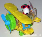 Flying Ace in Yellow Bi-plane Candy Container