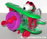 Flying Ace in Green Bi-plane Candy Container