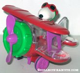 Flying Ace in Red Bi-plane Candy Container