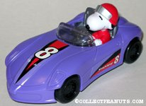 Snoopy driving purple race car Candy Container