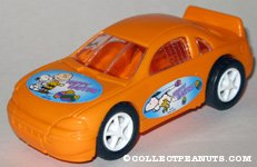 Peanuts orange Easter car Candy Container