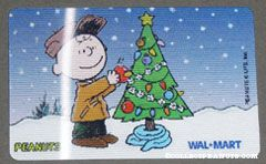 Charlie Brown decorating Christmas tree Walmart Gift Card