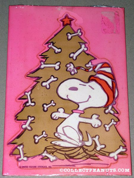 snoopy dancing by christmas tree decorated with dog bones gift tag - Snoopy Christmas Gifts