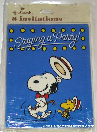 Peanuts Invitations – Snoopy Party Invitations