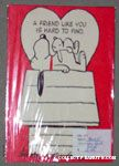 Snoopy & Bunny on doghouse Valentine Card