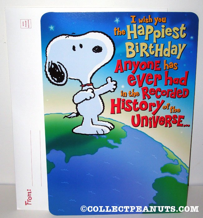 Pics photos images snoopy peanuts easy card greeting card from