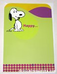 Snoopy standing 'Happy' Greeting Card