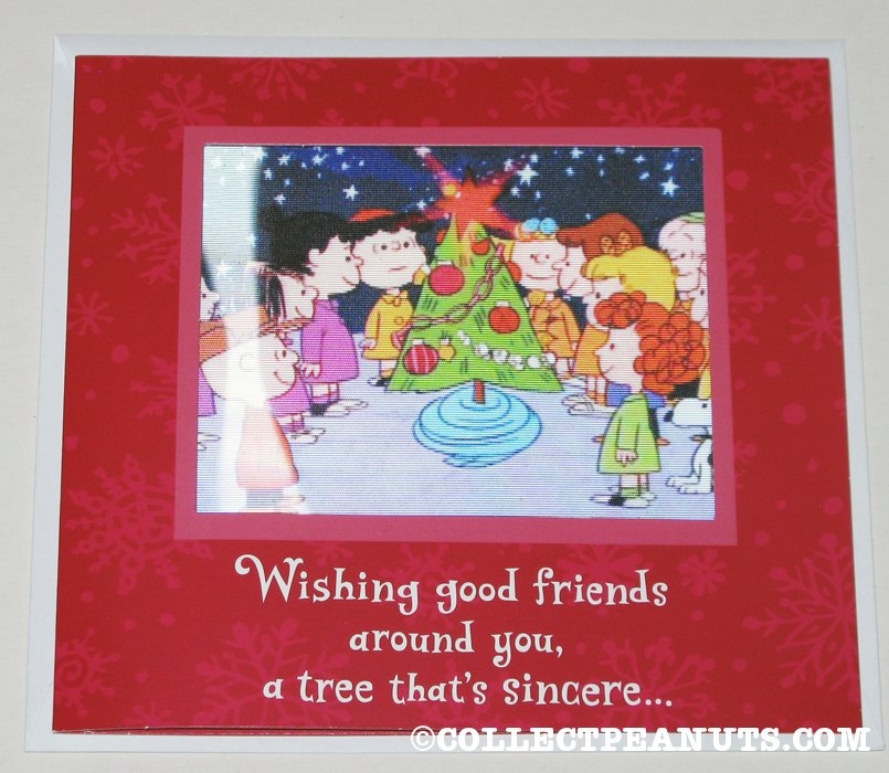 Charlie brown christmas lenticular christmas card