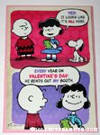 Snoopy renting Lucy's booth Valentine's Day Greeting Card