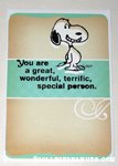 Snoopy 'Special Person' Greeting Card