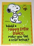 Snoopy & Woodstock 'Happy Little Dance' Greeting Card