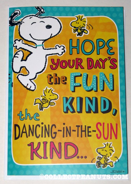 Peanuts birthday cards collectpeanuts snoopy woodstock dancing birthday greeting card m4hsunfo Images