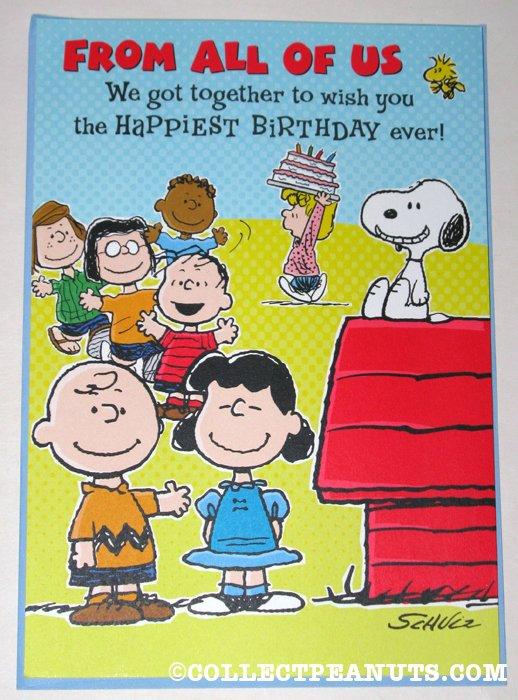 Peanuts Birthday Cards – Comic Birthday Greetings