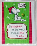 Snoopy & Woodstock 'Son' Christmas Card