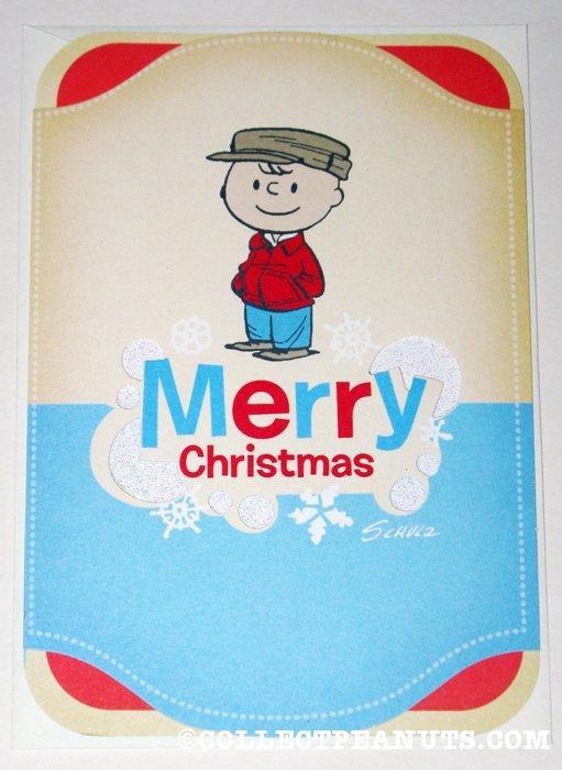 Retro charlie brown christmas card