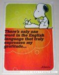 Snoopy at typewriter 'English Language' Greeting Card