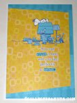 Snoopy on doghouse 'Stuff' Greeting Card
