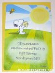 Snoopy & Woodstock Sunbeams Greeting Card