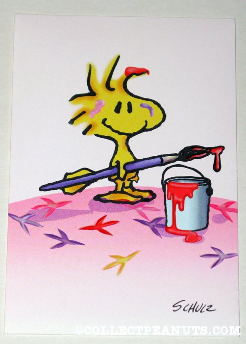 Woodstock with paint brush and paint can Greeting Card