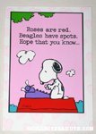 Snoopy writing poem Greeting Card