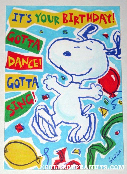 Peanuts Birthday Cards Collectpeanuts