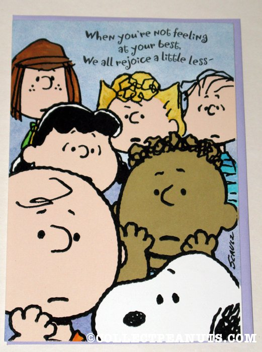 Peanuts get well cards collectpeanuts peanuts gang get well greeting card m4hsunfo