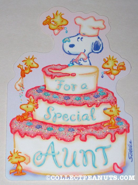 Birthday Cake Images For Auntie : Peanuts Birthday Cards CollectPeanuts.com