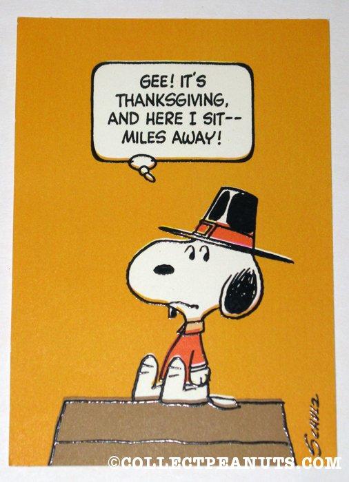 Peanuts Thanksgiving Cards Collectpeanuts Com