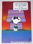 Snoopy Joe Cool Halloween Greeting Card