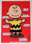 Charlie Brown arrow chart Greeting Card